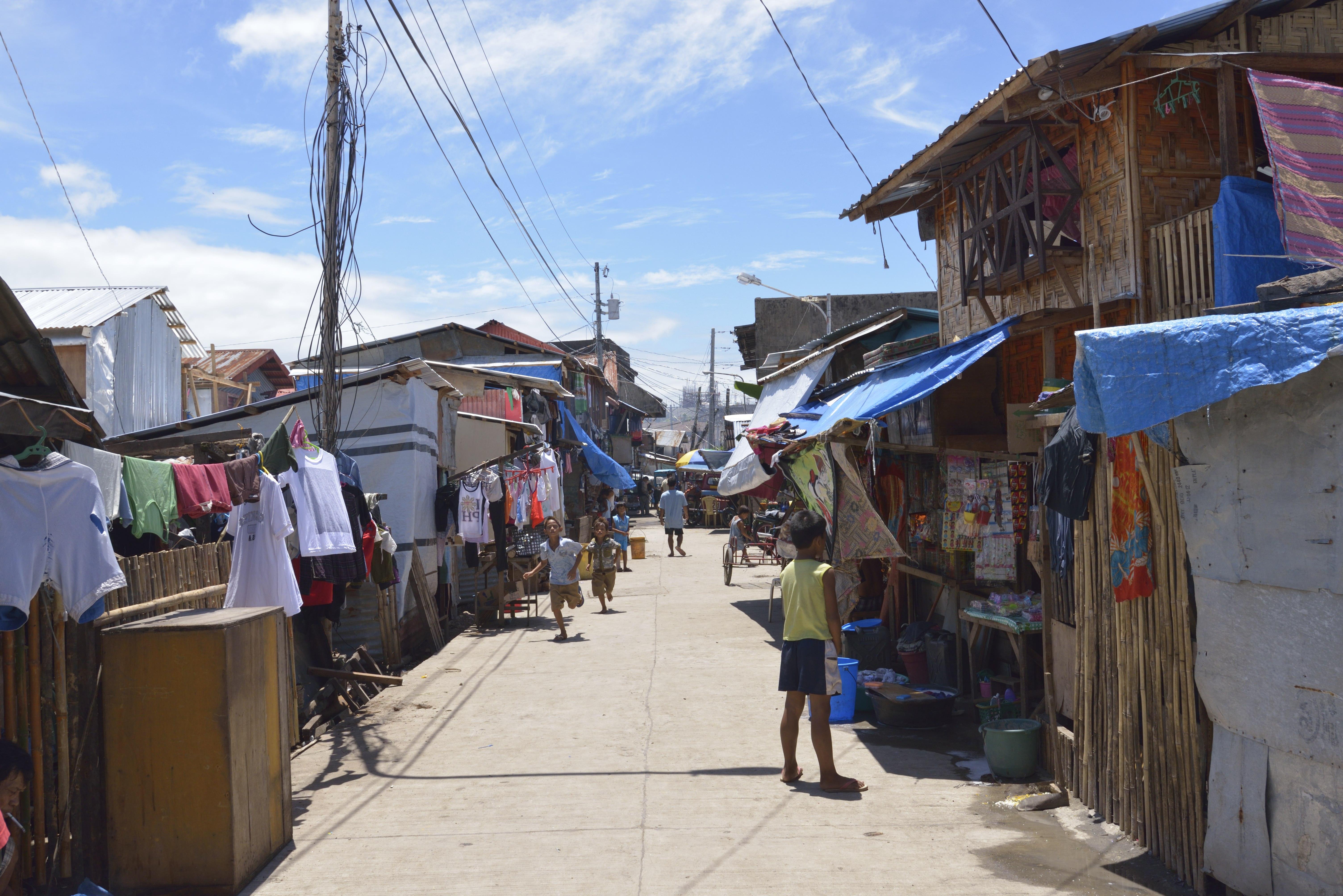 Barangay Bagong Buhay, Ormoc province, Philippines after Typhoon Haiyan.